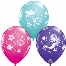 Merry Mermaid & Friends Balloons - 11 Inch Balloons 25pcs